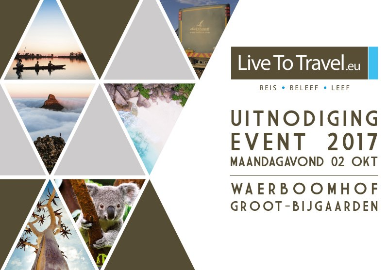 Uitnodiging Live To Travel Event 02 oktober 2017