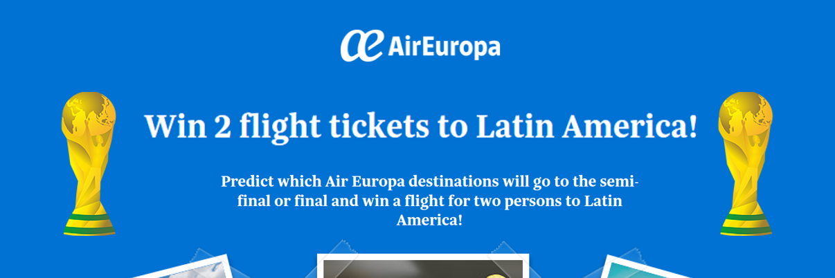 Une destination Air Europa championne du monde?!