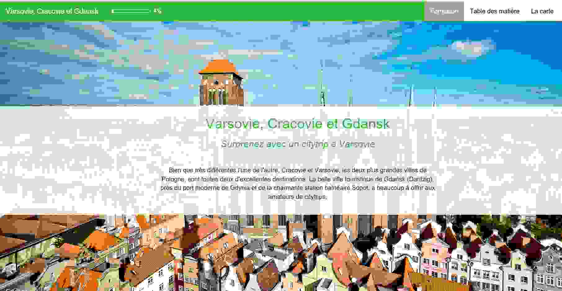 Nouvel e-learning: Varsovie, Cracovie et Gdansk