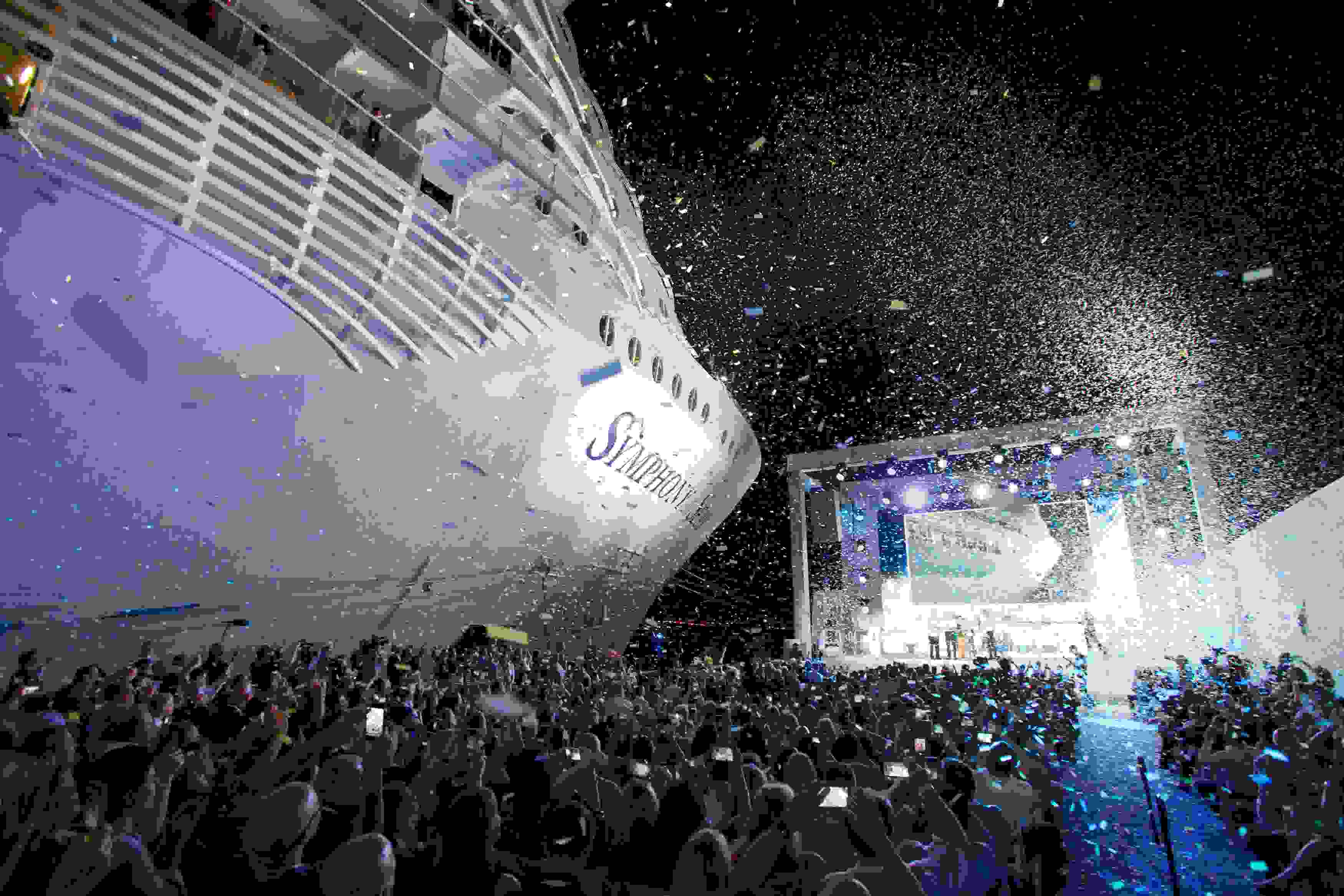 Le Symphony of the Seas baptisé