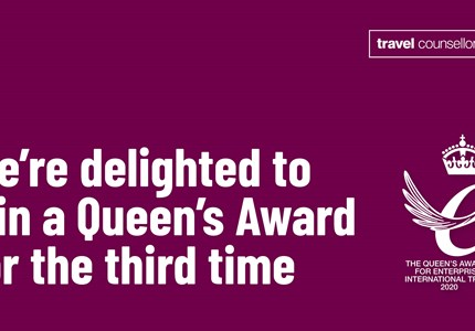 Travel Counsellors wint Queen's Award
