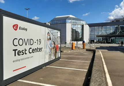 De COVID Test centra op Brussels Airport