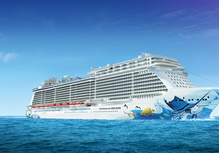 Norwegian Escape is het eerste schip in Breakaway Plus klasse